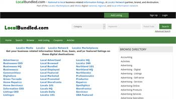 LocalBrowsed.com - National to local business related information listings.