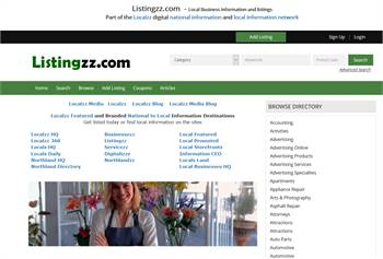 Listingzz.com  - National to local business and information listings.